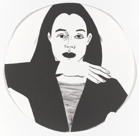 Alex Katz-Portrait in a Convex Mirror-1984