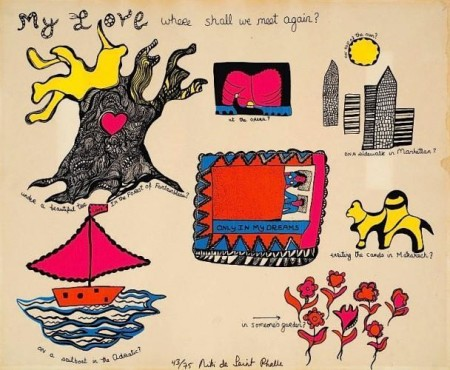 Niki de Saint Phalle-My Love where shall we meet again-1969