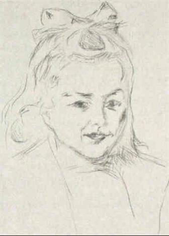 Edvard Munch-Bildnis Ottilie Schiefler (Portrait of Ottilie Schiefler)-1907