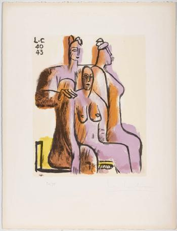Le Corbusier-Les trois femmes assises-1943