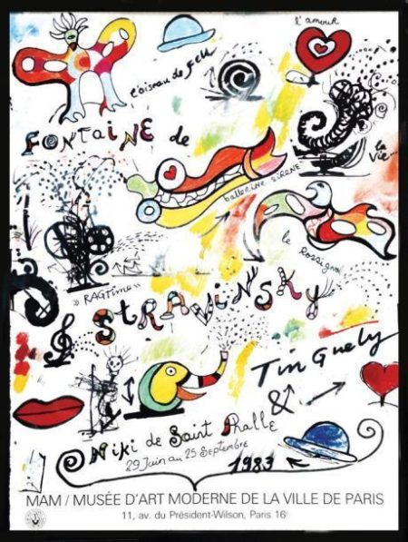 Niki de Saint Phalle-Fontaine de Stravinsky-1983