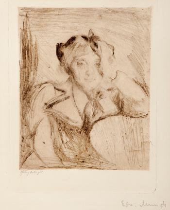 Edvard Munch-Portrait of a Young Woman / Portrett av en ung Kvinne-1894