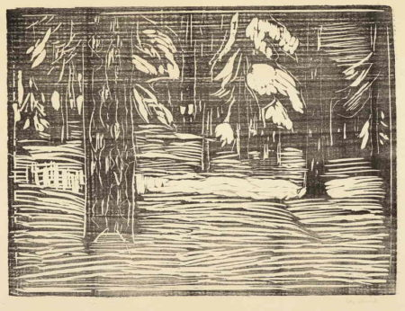 Edvard Munch-Woodland in Snow-1913