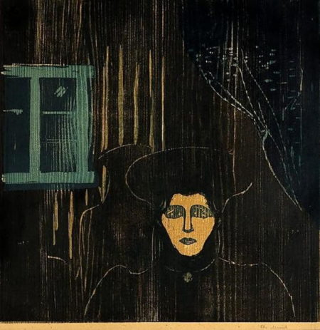 Edvard Munch-Maneskinn II / Moonlight II / Mondschein II-1902