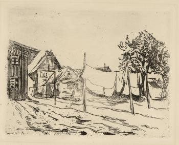 Edvard Munch-Toytork i Travemunde / The Washing / Washing in Travemunde-1904