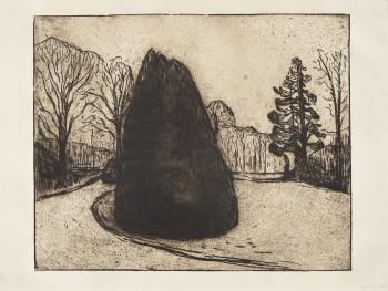 Edvard Munch-Hagen / The Garden (Woll 220)-1902