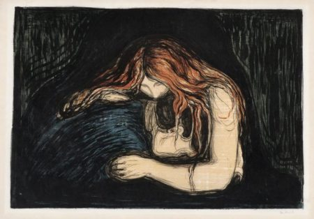 Edvard Munch-Vampyr II / Vampire II / Liebe und Schmerz (Woll 41; Sch. 34)-1902