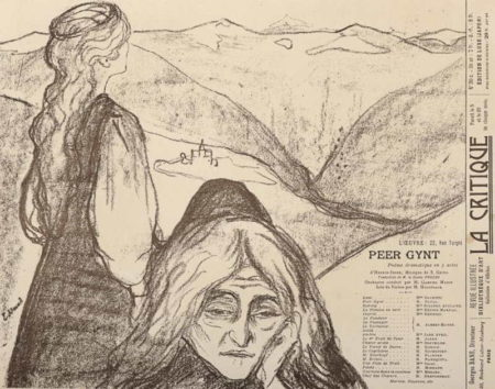 Edvard Munch-Teaterprogram: Peer Gynt-1896