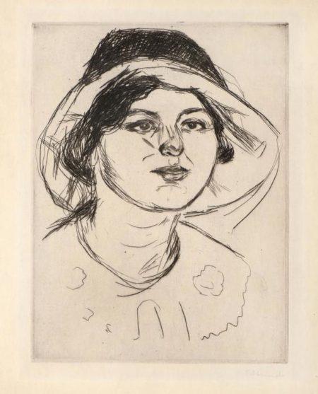 Edvard Munch-Celline Med Hatt-1914
