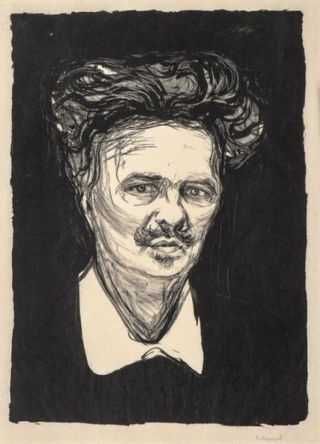 Edvard Munch-August Strindberg-1896