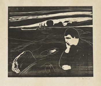 Edvard Munch-Melancholy (Woll 203 III I)-1902