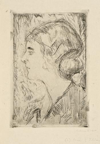 Edvard Munch-Hjordis Gierloff (Woll 438)-1914