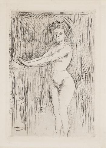 Edvard Munch-Model Warming her Hands (Woll 53 b)-1896