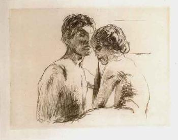 Edvard Munch-Two People-1913