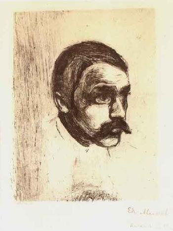 Edvard Munch-Sigbjorn Obstfelder / Portrait of Sigbjorn Obstfelder-1897