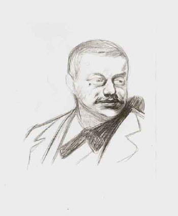 Edvard Munch-Gunnar Heiberg / Portrait of Gunnar Heiberg-1896