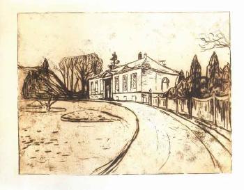 Edvard Munch-Dr. Linde's House / Das Haus-1902