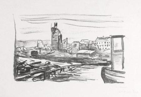 Edvard Munch-Etter Bergens Brann I-