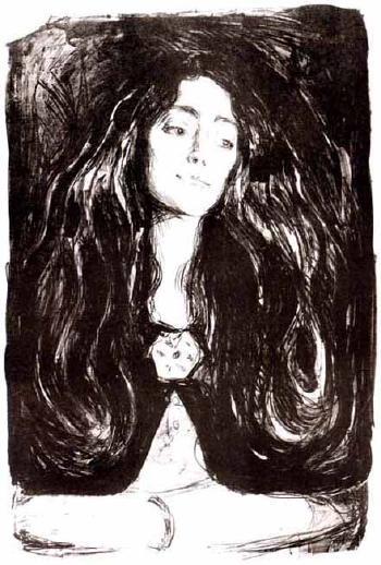 Edvard Munch-Brosjen, Eva Mudocci / The Brooch, Eva Mudocci / Madonna, die Brosche, Eva Mudocci (S. 212; W. 244)-1903