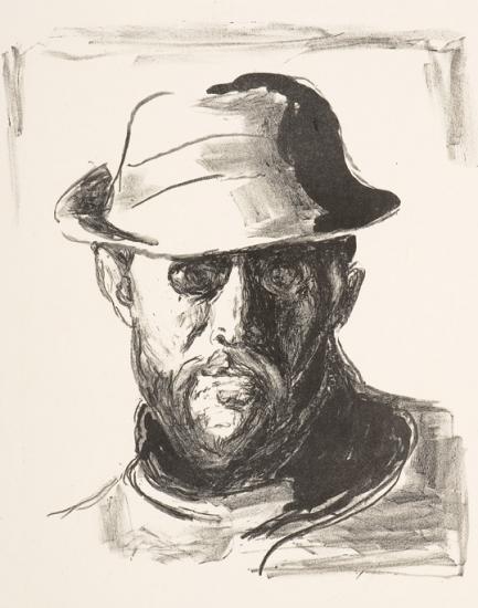 Edvard Munch-Hans Jaeger III (Woll nr. 748) / Portrait of Hans Jaeger-1944
