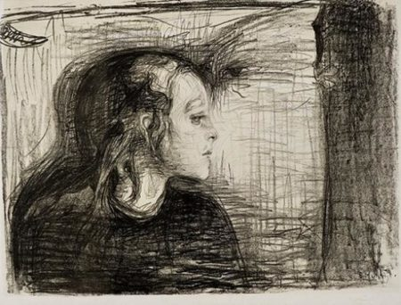 Das kranke Kind I / Das kranke Madchen / Det Syke Barn I (W. 72; Sch. 59)-1896