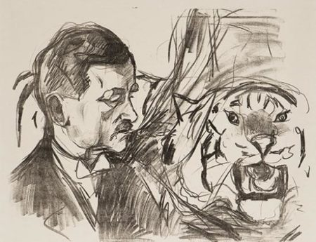 Edvard Munch-Tigertemmeren Sawade / The Tiger Tamer Sawade (Woll no. 597)-1916