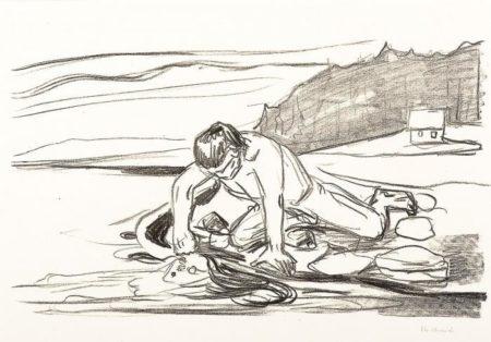Edvard Munch-Omega's death / Omegas dod (Schiefler 326; Woll 356)-1909