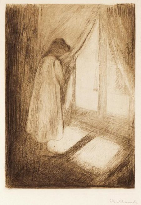 Das Madchen am Fenster / Piken ved Vinduet / The Girl at the Window (Woll 5)-1894