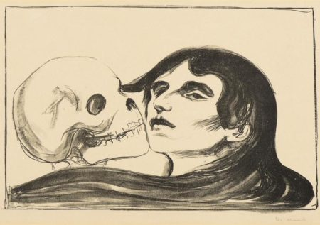 Edvard Munch-Dodskyss / Todeskuss / Kiss of Death (Sch. 119; W. 144)-1899