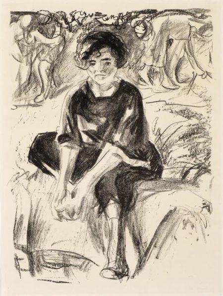 Edvard Munch-Footbath II / Fotvask-1920