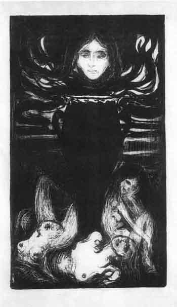 Edvard Munch-Urnen / The Urn (Schiefler 63; Woll 67)-1896