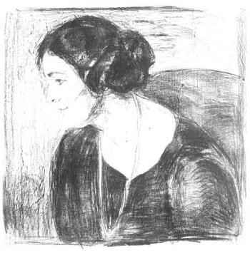 Edvard Munch-Inger Barth-1921