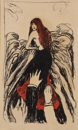 Edvard Munch-Hendenelthe Hand (The Hands)-1895