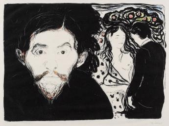 Edvard Munch-Jealousy I (Woll 68)-1896