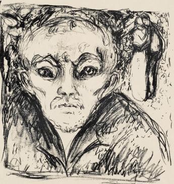 Edvard Munch-Sjalusi IV / Jealousy IV-1930