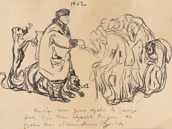 Edvard Munch-Caricature: The Rich Man-