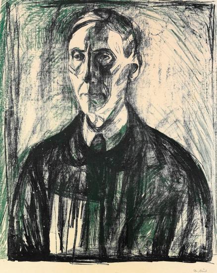 Edvard Munch-Professor Kristian Schreiner-1928