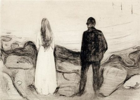 The Two Human Beings / The Lonely Ones / Zwei Menschen, Die Einsamen / De ensomme / The Lonely Couple / To mennesker (Sch. 20; W. 13)-1894