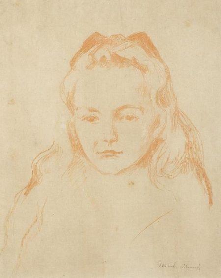 Edvard Munch-Ottilie Schiefler (W. 295)-