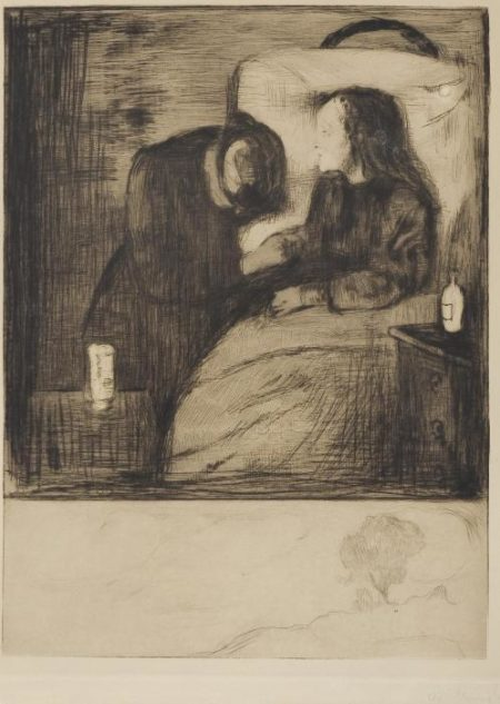 Edvard Munch-Das kranke Kind I / Das kranke Madchen / The Sick Child / The Sick Woman / Det syke barn (Schiefler 7; Woll 7)-