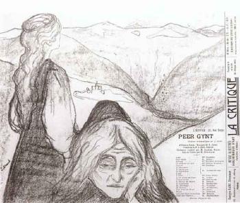 Edvard Munch-Teaterprogram: Peer Gynt-1896