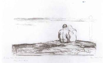 Edvard Munch-Maneoppgang / Moonrise / Mondaufgang (Schiefler 311; Woll 341)-1909