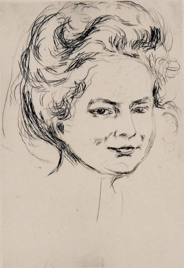 Edvard Munch-Kvinneportrett, Froken Harder / Portrait of Lady, Miss Harder / Portrait of Miss Harder / Woman's Portrait, Miss Harder (W. 299)-1908