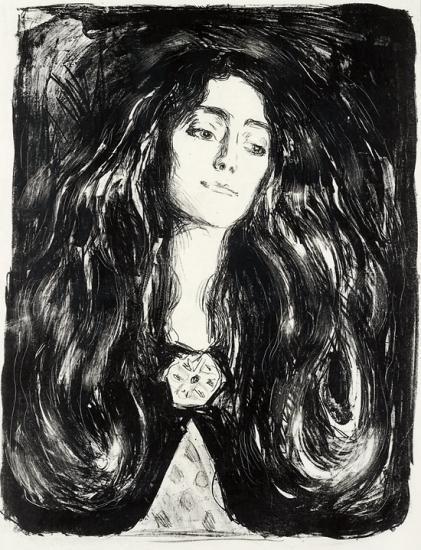 Brosjen, Eva Mudocci / The Brooch, Eva Mudocci / Madonna, die Brosche, Eva Mudocci (S. 212; W. 244)-1903