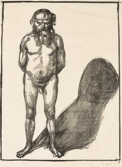 Edvard Munch-Male Nude / Mannsakt (Woll 199)-1902