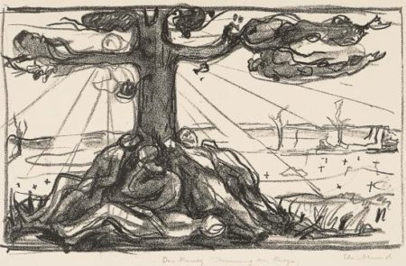 Edvard Munch-Treet I / The Tree I (Woll 585)-