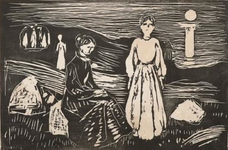 Edvard Munch-Frauen am Strand / Kvinner pa Stranden / Women on the Beach (Woll 369)-