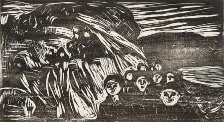 Edvard Munch-Panikk / Panic (Woll 542)-