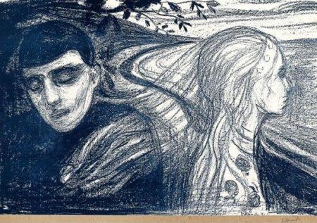 Edvard Munch-Loslosung II / Separation II / Losrivelse II (Schiefler 68, Woll 78)-