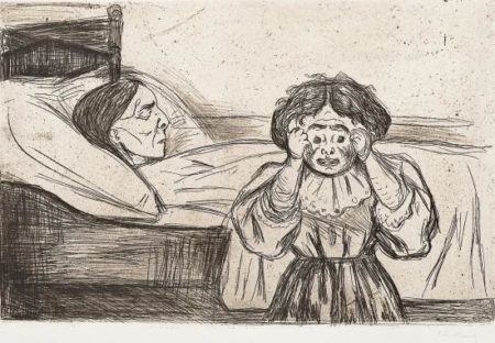 Edvard Munch-Den Dode Mor og Bamet / The Dead Mother and her Child (Woll 163) / Die tote Mutter und das Kind-1901